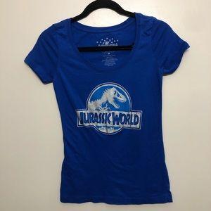 Universal Jurassic world graphic t shirt blue